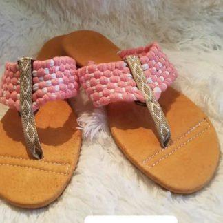 Sandalias artesanales mexicanas.